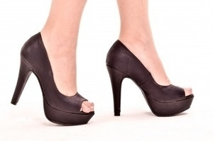 Peep Toe MP Alta Preto