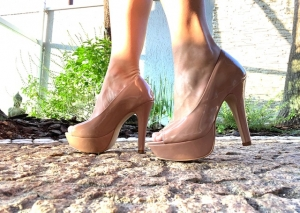 Peep Toe MP Alta Vz. Nude