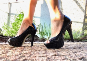 Peep Toe MP Alta Vz. Preto