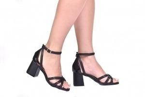 Sandália 3 Tiras Preta