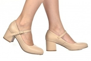 Sapato Boneca Bege