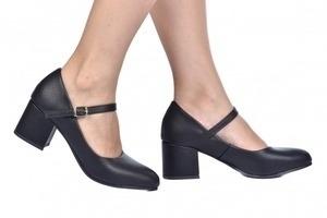 Sapato Baixo Boneca Preto