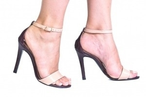 Sandália Alta Vz Bordô / Nude Premium