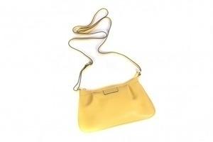 Bolsa Pequena Retangular Couro Amarelo