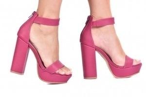 Sandália MP Alta 1 Tira Pink
