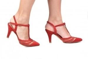 Sapato Tela Vermelho