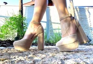 Sapato MP Alta Grosso Bege