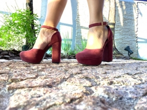 Sapato MP Alta Grosso Bordô