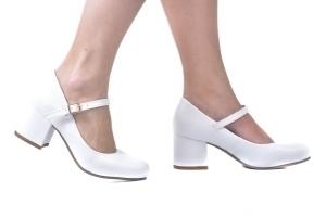 Sapato Boneca Baixo Branco