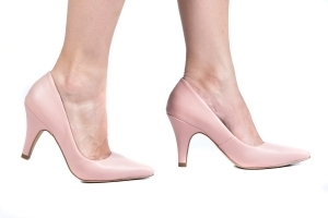Scarpin Couro Rosa Candy (Nude)