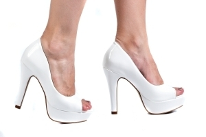 Peep Toe MP Alta Vz Branco