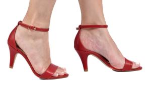 Sandália Simples Vermelha