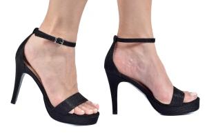 Sandália MP Baixa Simples Glitter Preto Premium