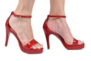 Sandália MP Baixa Simples Vz Vermelho Premium