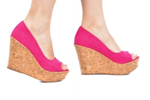 Peep Toe Simples AB Pink Suede