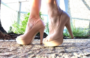 Peep Toe MP Alta Nude