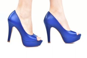 Peep Toe MP Alta Azul