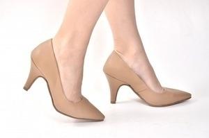 46cd276f5 Scarpin Couro Bege. Loja virtual especializada em calçados femininos ...