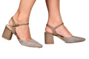 Sapato Rafia Cinza/Cimento