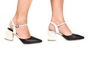 Sapato Rafia Preto/Gelo