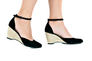 Espadrille Sapato Preto Camurça