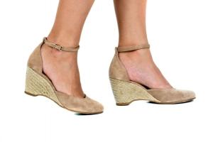 Espadrille Sapato Bege Camurça