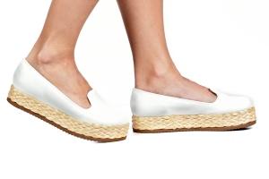 Slipper Flatform Trança Branco