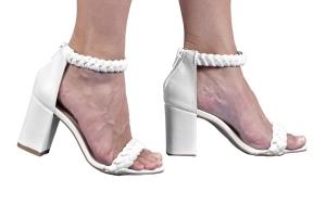 Sandália 2 Tranças Branca