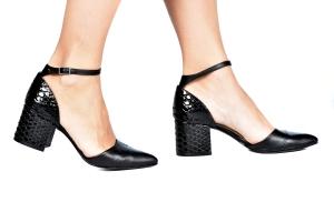 Sapato Tri Preto Croco Verniz