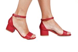 Sandália Baixa Vermelha Básica Simples