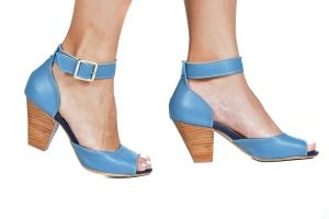 Sandália Estamp. Tornozelo Azul