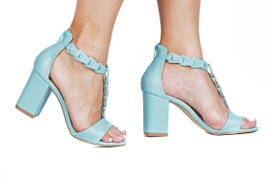 Sandália Enlace Azul Pistache