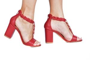 Sandália Enlace Vermelha