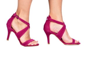 Sandália X Camurça Pink