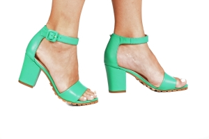 Sandália Tratorada Couro Verde Premium