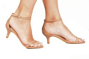 Sandália Gisele Baixa Nude Premium