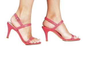Sandália 2 Tiras Finas Pink Média