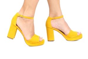 Sandália MP Baixa Nobuck Amarelo Basic Premium