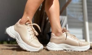 Sneaker Liso Nude