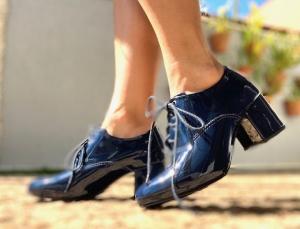 Sapato Oxford Verniz Marinho