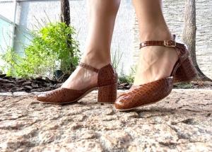 Sapato Boneca Aberto Albany Caramelo