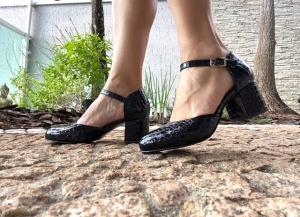 Sapato Boneca Aberto Albany Preto