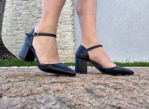 Sapato Aberto BF Preto Baixo