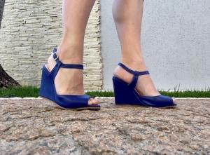 Sandália AB Média Azul Simples