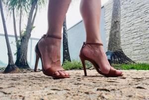 Sandália Gisele Alta Caramelo