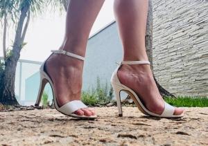 Sandália Gisele Alta Vz Branco