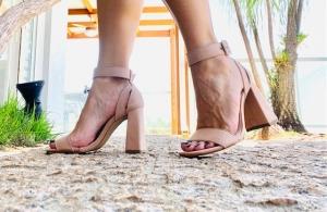 Sandália Simples SG Camurça Nude
