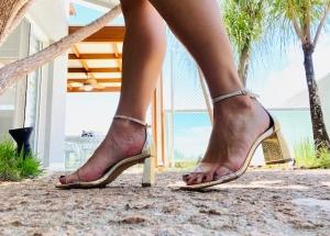 Sandália Cristal Ouro