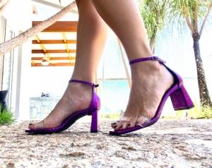 Sandália Cristal Roxa