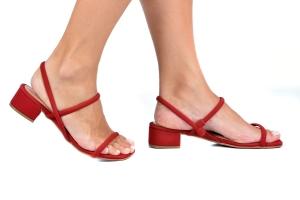 Sandália Baixinha Vermelha